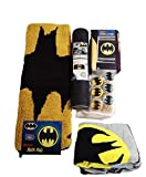 Batman Bathroom Set, Shower Curtain, Hooks, Bath Rug, Bath Towel, and Bath Tub Mat
