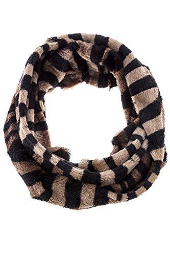 Sundanze-Zebra-print-Furry-Infinity-scarves-for-women-ZebraBrown