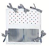 Vizaro - Mural Organizador de Cuna - 100% algodón alta calidad - Acolchado - Colección Casetas Playa - Controlado contra sustancias nocivas - Fabricado en la UE