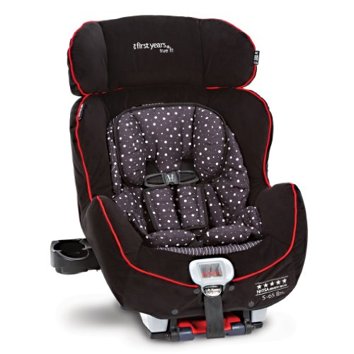 The First Years C670 True Fit Premiere Convertible Car Seat, Black/Red
