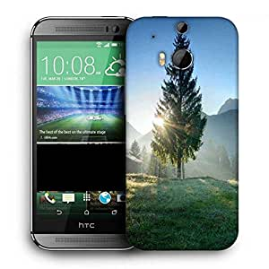Snoogg Christmas Tree Printed Protective Phone Back Case Cover For HTC One M8