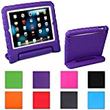 HDE Kids Light Weight Shock Proof Handle Case for iPad Mini / Mini 2 / Mini 3 / Retina (Purple)