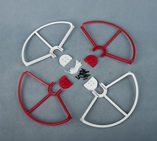 Summitlink® Snap On/off Prop Guards 2 Red 2 White for DJI Phantom All Versions Tool Free Quick Release