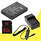 LI-50B Lithium Ion Replacement Battery w/Charger + 16GB SDHC Memory Card for Olympus Stylus SZ10, SZ20 and SZ30MR Digital Cameras DavisMAX Kit