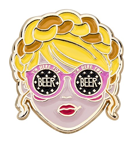 likalla-pin-anstecker-button-wiesn-madl-im-here-for-beer-gold-plattiert-7-farbige-weichemaille-frech