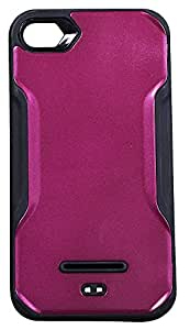 Zeztee ZT6643 Glossy metal finish plastic back cover Designed for APPLE I PHONE 4/4G