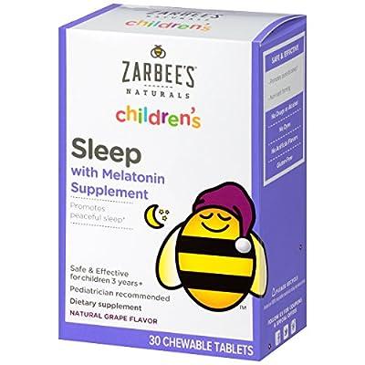 Zarbee's Naturals Children's Sleep with Melatonin Supplement, Chewable Tablets - 30 Count