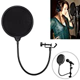 Tonor® Studio Microphone Mic Wind Screen Pop Filter/Swivel Mount,360 degree Flexible Gooseneck Holder