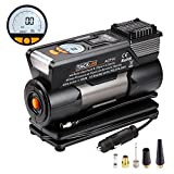 Digital Tire Inflator, Tacklife ACP1C Auto Portable Air Compressor Pump, 12V Preset Tire Pump Built-in Large LCD Screen, Return Switch, Overheat Protector for Car, Bicycle, RV and Other Inflatables
