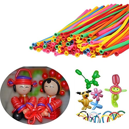 LEORX 200pcs Magic Balloons Twisty Modeling Balloons -Assorted Color (Modelling Balloons compare prices)