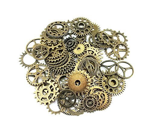 yueton-100-gram-approx-70pcs-assorted-antique-steampunk-gears-charms-pendant-clock-watch-wheel-gear-