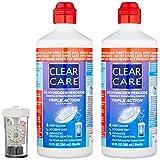 Alcon Clear Care con estuche para lentes, paquete de 2. 12 onzas