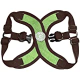Gooby Choke Free Perfect Fit X Harness for Small Dogs, Medium, Green