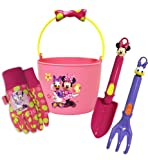 Midwest Gloves and Gear MY14P03-EA-AZ-6 Minnie Mouse Bucket and Garden Tool Set Combo Pack
