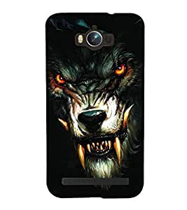 Fuson Premium Back Case Cover Ferocious LION With Red Background Degined For Asus Zenfone Max