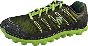 K-Swiss Men's Vertical Tubes Cali-Mari Low Running Shoe,Bright Green/Forest/Black,9 M US