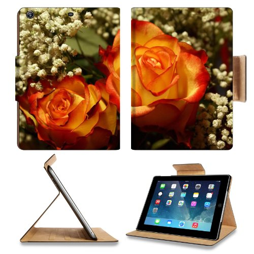 Perfectly Roses Wedding Bouquet Apple Ipad Air Retina Display 5Th Flip Case Stand Smart Magnetic Cover Open Ports Customized Made To Order Support Ready Premium Deluxe Pu Leather 9 7/16 Inch (240Mm) X 7 5/16 Inch (185Mm) X 5/8 Inch (17Mm) Liil Ipad Profes front-240788