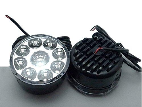 バルカン型 ハイパワー 18連LED デイライト フォグランプ 2個1セット 専用ステー 付き