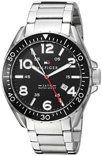 Tommy Hilfiger Men's 1791135 Casual Sport Analog Display Quartz Silver Watch - 51guWXK7USL - Tommy Hilfiger Men's 1791135 Casual Sport Analog Display Quartz Silver Watch