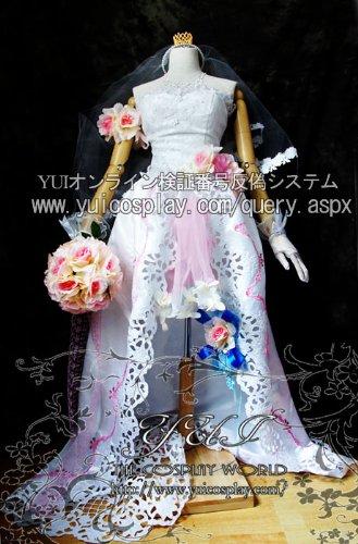 マクロスF マクロスフロンティア サヨナラノツバサ シェリル?ノーム ウェディングドレス コスプレ衣装 yy349 (男性XLサイズ)【お取り寄せ品】