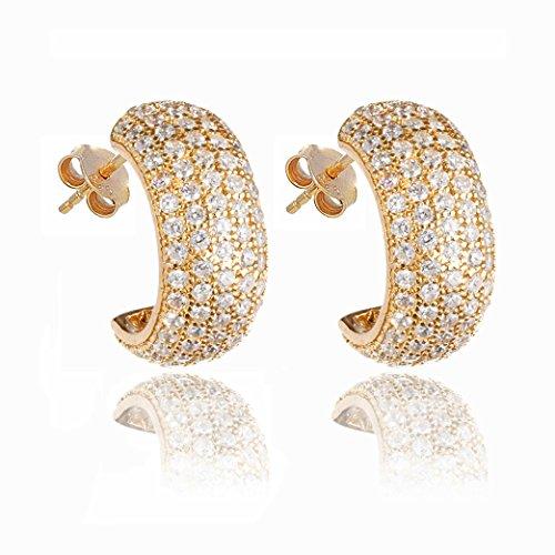 Ingenious Jewellery - Boucles d'oreilles - 925 - Oxyde de zirconium - CZEAR238/GLD
