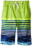 Nautica Boys 8-20 Tie Dyed Stripe Swim Trunk, Bright Green, Medium