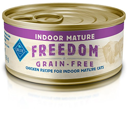 Blue Buffalo Freedom Indoor Mature Chicken Wet Cat Food, 5.5 oz Can, Pack of 24 (Blue Buffalo Canned Cat compare prices)