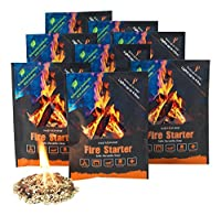 Instafire Fire Starter Pouches, Durable Mylar Packs Lights up to 4 fires, No Harmful Chemicals, ECO Friendly - Use at Campfire, Fireplace, Cooking, Charcoal, Emergency,