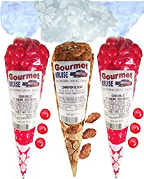 Sour Balls (2) Fire Engine Red Cherry (1) Almonds Cinnamon Roasted Delicately (NET WT 25 OZ) Gourmet Kruise Signature Gift Bags