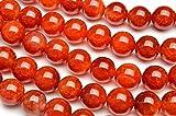 【 福縁閣 】赤龍紋瑪瑙 8mm 1連(約38cm)_R5078-8 /A19-4 天然石 パワーストーン ビーズ