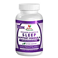 #1 Sleep Support Supplement - Advanced Sleep Support Formula - All Natural Formulated with Melatonin, Passion Flower, Hops Flower, Chamomile Flower and Valerian Root for Revitalizing Sleep & Relaxation During Sleep Cycle - 45 Days Supply