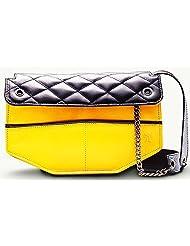 Twach Frolic Cross Body Leather Bag (Yellow Black)