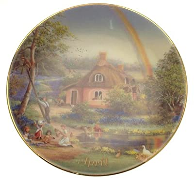 Davenport For All Time April plate Marji Daisley - 6 inch diameter - CP1487