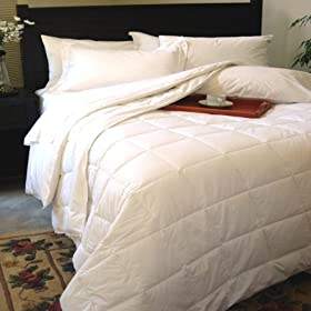 Classic White Down Alternative Comforter or Blanket Year Round Filled