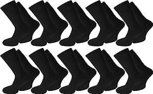 20 Paar Arbeits- Freizeit - Sportsocken Tennissocken in Schwarz oder Weiß Farbe Schwarz Größe 35/38
