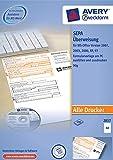 Avery Zweckform 2817 Sepa-Überweisung, DIN A4, 100 Blatt, inkl. Software-CD, weiß