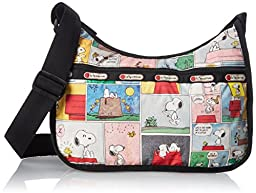LeSportsac Peanuts X Classic Hobo Shoulder Bag, Snoopy Patchwork, One Size