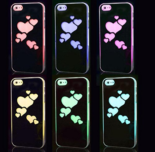 Bessky(Tm) 2014 Sense Flash Light Led Changing Case Cover For Iphone 5S (Love)