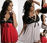 Nine X- Women's Sexy Lingerie, Babydoll with G-string size Plus Size / reg