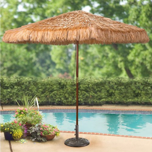 9 foot Thatched Tiki Umbrella