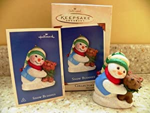 Hallmark Keepsake Ornament - Snow Buddies 5th in Series 2002 (QX8003)