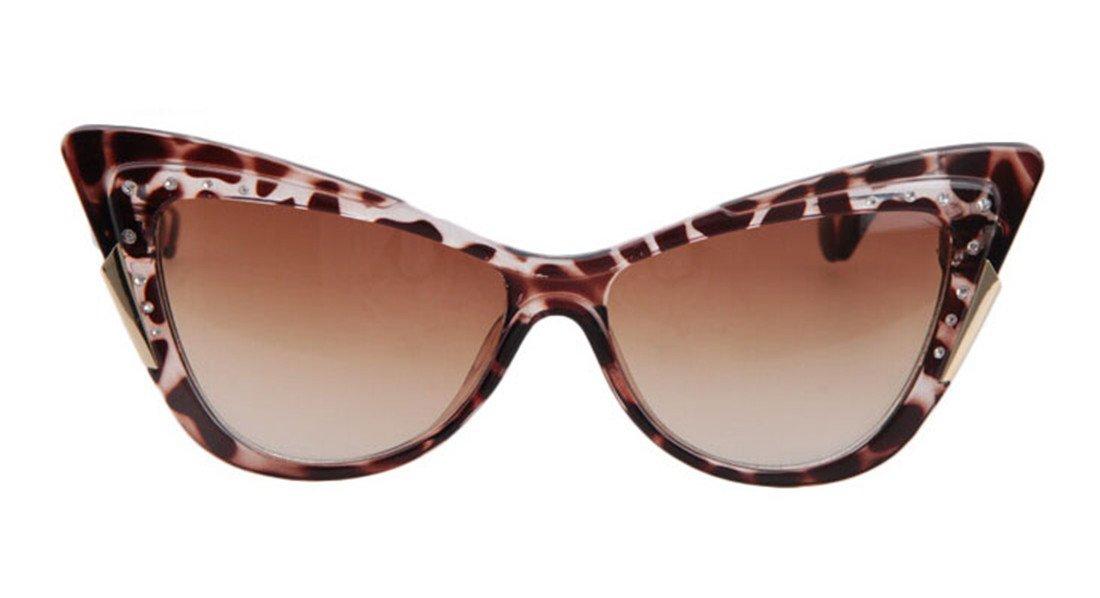 GAMT Vintage Inspired Women Rhinestone Cat Eye Sunglasses 1