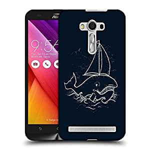 Snoogg Boat Whale Designer Protective Back Case Cover For ASUS ZENFONE SELFIE