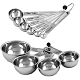 CIA Masters Collection Stainless Steel 10-Piece Measuring Cup and Spoon Set