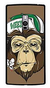 """Humor Gang Grass Monkey Printed Designer Mobile Back Cover For """"OnePlus Two"""" (2D, Glossy, Premium Quality Snap On Case)"""