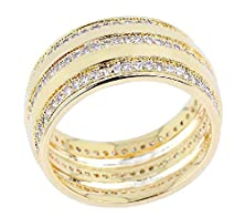 buy Beydodo 18K Gold Plated Women'S Ring (Promise Ring) Round Shaped Cubic Zirconia Size 7 Gold