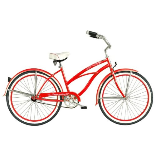 Red Tahiti Women's Beach Cruiser Bike