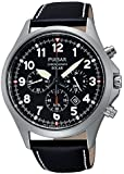 Pulsar Gents Watch Chronograph XL Leather Solar-Powered quartz PX5007 x 1