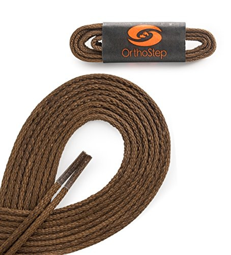 orthostep-waxed-very-thin-dress-round-light-brown-36-inch-shoelaces-2-pair-pack