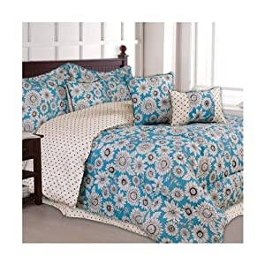 Daisy 7 Piece Microfiber Comforter Set - Full